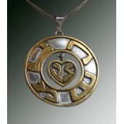 "The word ""Lev-heart"" dangles encircled by :Neshama -Soul"""