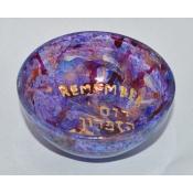 Yahrzeit  Candle Holder-Purple